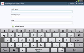 Samsung P5220 Galaxy Tab 3 10-1 LTE - E-mail - e-mail instellen: IMAP (aanbevolen) - Stap 12