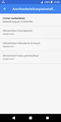 Sony Xperia XZ2 Compact - Anrufe - Rufumleitungen setzen und löschen - 12 / 13