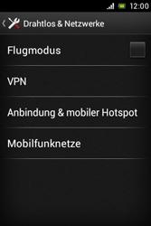 Sony Xperia E - Netzwerk - Netzwerkeinstellungen ändern - Schritt 5