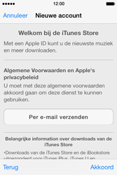 Apple iPhone 4 iOS 7 - apps - account instellen - stap 10