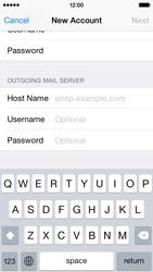 Apple iPhone 5s - iOS 8 - E-mail - Manual configuration - Step 13