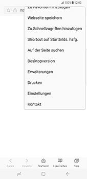 Samsung Galaxy S8 Plus - Datenschutz und Sicherheit - Cookies und Verlauf löschen - 7 / 12