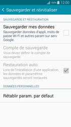 Samsung A500FU Galaxy A5 - Appareil - Réinitialisation de la configuration d