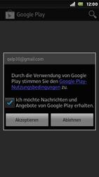 Sony Xperia U - Apps - Konto anlegen und einrichten - Schritt 17