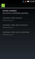 Alcatel Pop C3 - Anrufe - Rufumleitungen setzen und löschen - 12 / 13