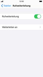 Apple iPhone SE - iOS 13 - Anrufe - Rufumleitungen setzen und löschen - Schritt 6