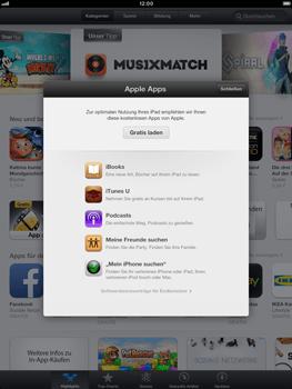 Apple iPad Retina - Apps - Einrichten des App Stores - Schritt 3