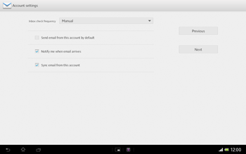 Sony Xperia Tablet Z LTE - E-mail - Manual configuration - Step 15