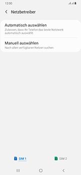 Samsung Galaxy A50 - Netzwerk - Manuelle Netzwerkwahl - Schritt 8