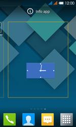 Alcatel One Touch Pop C3 - Operazioni iniziali - Installazione di widget e applicazioni nella schermata iniziale - Fase 5