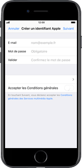Apple iPhone SE - iOS 11 - Applications - Créer un compte - Étape 7