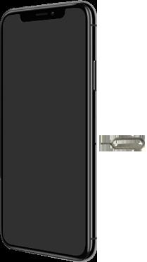 Apple iPhone X - iOS 13 - Appareil - comment insérer une carte SIM - Étape 2