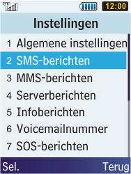 Samsung C3350 Xcover 2 - SMS - handmatig instellen - Stap 5