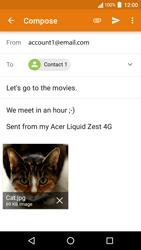 Acer Liquid Zest 4G - E-mail - Sending emails - Step 15