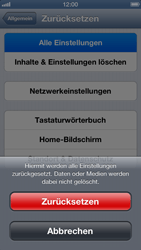 Apple iPhone 5 - Fehlerbehebung - Handy zurücksetzen - Schritt 8