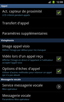 Samsung N7000 Galaxy Note - Messagerie vocale - Configuration manuelle - Étape 5