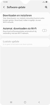 Samsung Galaxy A10 - software - update installeren zonder pc - stap 5
