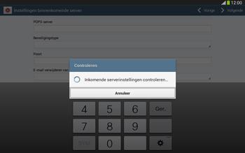 Samsung P5220 Galaxy Tab 3 10-1 LTE - E-mail - e-mail instellen: POP3 - Stap 11