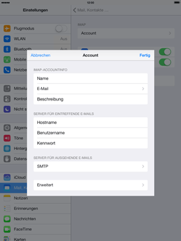Apple iPad Air - E-Mail - Konto einrichten - 24 / 27