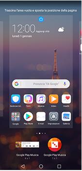 Huawei P20 Pro - Operazioni iniziali - Installazione di widget e applicazioni nella schermata iniziale - Fase 7