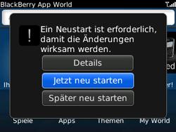 BlackBerry Bold - Apps - Konto anlegen und einrichten - 6 / 19