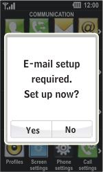 LG GD510 Pop - E-mail - Manual configuration - Step 4