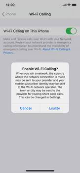 Apple iPhone X - iOS 14 - WiFi - Enable WiFi Calling - Step 7