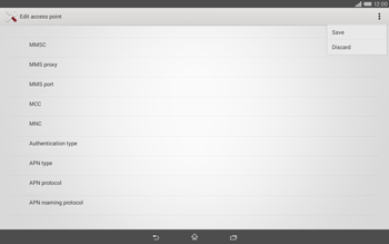 Sony Xperia Tablet Z2 LTE - MMS - Manual configuration - Step 15