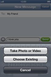 Apple iPhone 4 S iOS 6 - MMS - Sending a picture message - Step 7