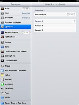 Apple iPad Retina - Réseau - Sélection manuelle du réseau - Étape 9