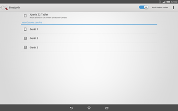 Sony Xperia Tablet Z2 LTE - Bluetooth - Geräte koppeln - 1 / 1