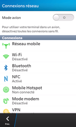 BlackBerry Z10 - WiFi - Configuration du WiFi - Étape 5