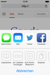 Apple iPhone 4S iOS 7 - Internet und Datenroaming - Verwenden des Internets - Schritt 7