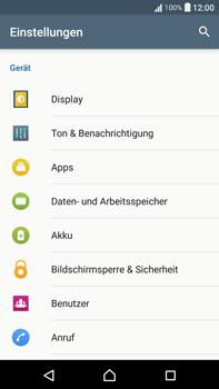 Sony F3211 Xperia XA Ultra - Anrufe - Rufumleitungen setzen und löschen - Schritt 4