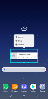 Samsung Galaxy S8 Plus - Getting started - Installing widgets and applications on your start screen - Step 9