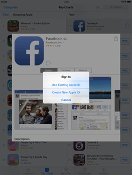 Apple iPad mini Retina iOS 8 - Applications - setting up the application store - Step 7