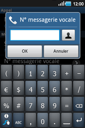 Samsung S5660 Galaxy Gio - Messagerie vocale - Configuration manuelle - Étape 6