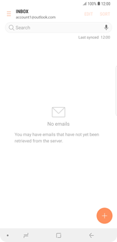 Samsung Galaxy Note9 - E-mail - 032c. Email wizard - Outlook - Step 12