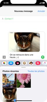 Apple iPhone XS - iOS 13 - MMS - Envoi d