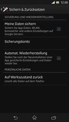 Sony Xperia Z - Gerät - Zurücksetzen auf die Werkseinstellungen - Schritt 5