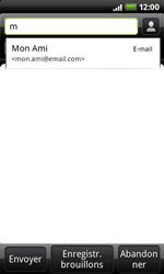 HTC A7272 Desire Z - E-mail - envoi d