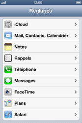Apple iPhone 4S - E-mail - Configuration manuelle - Étape 3