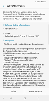Samsung Galaxy S8 Plus - Android Oreo - Software - Installieren von Software-Updates - Schritt 8
