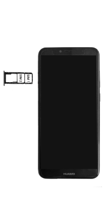 Huawei Y6 (2018) - Premiers pas - Insérer la carte SIM - Étape 6