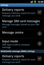 Samsung S7500 Galaxy Ace Plus - SMS - Manual configuration - Step 4