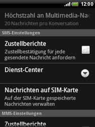 HTC Wildfire - SMS - Manuelle Konfiguration - 6 / 8