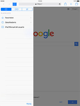 Apple iPad 9.7 (Model A1823) - Internet - Hoe te internetten - Stap 8