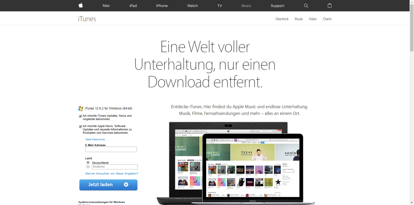 Apple iPhone 6 - Apps - iTunes installieren - 2 / 11