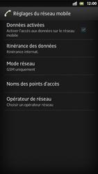 Sony Xperia S - Internet et roaming de données - Désactivation du roaming de données - Étape 6
