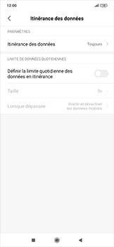 Xiaomi RedMi Note 7 - Internet et roaming de données - Désactivation du roaming de données - Étape 5